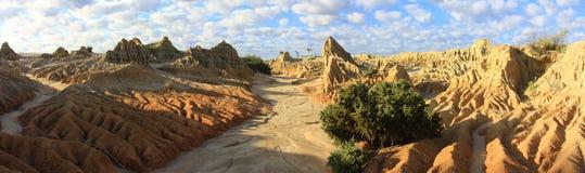 Πανόραμα - Mungo εθνικό πάρκο, NSW, Αυστραλία Στοκ Φωτογραφίες