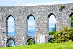 Πανόραμα Oban, μιας παραθεριστικής πόλης μέσα στο Argyll και της περιοχής των συμβουλίων Bute της Σκωτίας Στοκ εικόνα με δικαίωμα ελεύθερης χρήσης