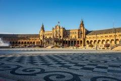 Πανόραμα plaza de espana στη Σεβίλη, Ισπανία, Ευρώπη Στοκ Εικόνες