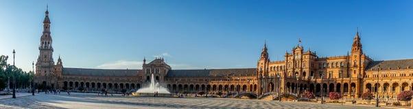 Πανόραμα plaza de espana στη Σεβίλη, Ισπανία, Ευρώπη Στοκ Φωτογραφίες