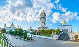 Πανόραμα Pochayiv Lavra Στοκ φωτογραφίες με δικαίωμα ελεύθερης χρήσης