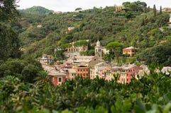Πανόραμα Portofino στοκ εικόνα με δικαίωμα ελεύθερης χρήσης