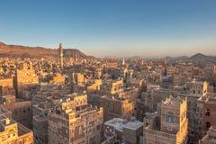 Πανόραμα Sanaa, Υεμένη Στοκ Εικόνες