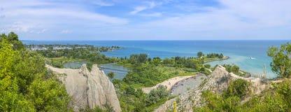 Πανόραμα Scarborough Bluffs Τορόντο, Καναδάς Στοκ Εικόνες