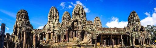 Πανόραμα Thom Angkor, Prasat Bayon Στοκ φωτογραφία με δικαίωμα ελεύθερης χρήσης