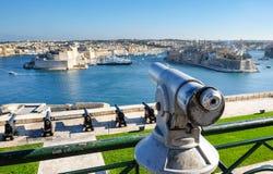 Πανόραμα Valletta Οχυρό Άγιος Angelo - Μάλτα Στοκ φωτογραφία με δικαίωμα ελεύθερης χρήσης