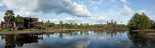Πανόραμα Wat Angkor Στοκ εικόνες με δικαίωμα ελεύθερης χρήσης