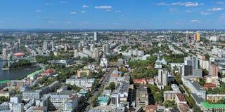 Πανόραμα Yekaterinburg, Ρωσία Στοκ εικόνες με δικαίωμα ελεύθερης χρήσης