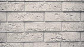 Παν άσπρο διακοσμητικό τούβλο το σπίτι σας Σκηνικό πλινθοδομής Μοναδικός φραγμός σχεδίων απόθεμα βίντεο