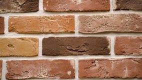 Παν κόκκινο διακοσμητικό τούβλο το σπίτι σας Υπόβαθρο πλινθοδομής Μοναδικός φραγμός σχεδίων φιλμ μικρού μήκους