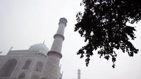 Παν πυροβολισμός του Taj Mahal, Agra, Ουτάρ Πραντές, Ινδία απόθεμα βίντεο