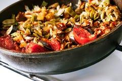 Παν σύνολο τηγανίσματος των λαχανικών Στοκ εικόνες με δικαίωμα ελεύθερης χρήσης