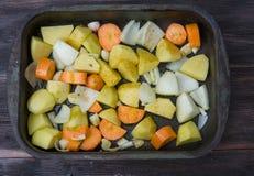 Παν σύνολο τηγανίσματος των λαχανικών Στοκ φωτογραφία με δικαίωμα ελεύθερης χρήσης