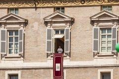 Παπάς Angelus σε Βατικανό Στοκ Εικόνες