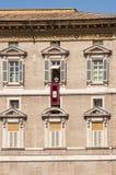 Παπάς Angelus σε Βατικανό Στοκ Εικόνα