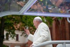 Παπάς Francis που επισκέπτεται στη Λιθουανία στοκ εικόνα
