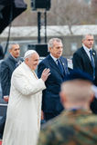 Παπάς Francis που ευλογεί το πλήθος Στοκ φωτογραφία με δικαίωμα ελεύθερης χρήσης