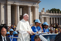 Παπάς Francis Bergoglio στον παπά κινητό Στοκ Εικόνα