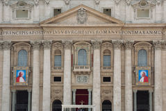 Παπάδες John XXIII και John Paul II που αγιοποιούνται Στοκ εικόνες με δικαίωμα ελεύθερης χρήσης