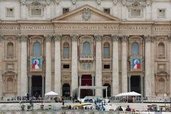 Παπάδες John XXIII και John Paul II που αγιοποιούνται Στοκ Εικόνες