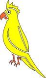παπαγάλος κίτρινος Διανυσματική απεικόνιση