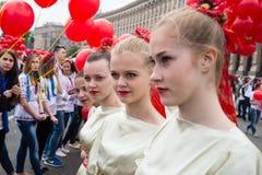 Παπαρούνες Flashmob της μνήμης σε Kyiv Στοκ εικόνα με δικαίωμα ελεύθερης χρήσης