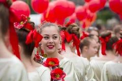 Παπαρούνες Flashmob της μνήμης σε Kyiv Στοκ Εικόνες