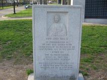 Παπική μαζική πινακίδα, Βοστώνη κοινή, Βοστώνη, Μασαχουσέτη, ΗΠΑ Στοκ φωτογραφίες με δικαίωμα ελεύθερης χρήσης