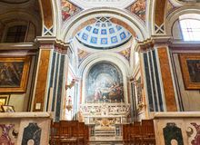 Παπικός καθεδρικός ναός βασιλικών του Μπρίντιζι, Apulia, Ιταλία στοκ φωτογραφίες με δικαίωμα ελεύθερης χρήσης