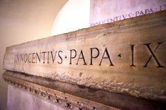 Παπικός τάφος crypt κάτω από τη βασιλική του ST Peter στοκ φωτογραφία με δικαίωμα ελεύθερης χρήσης