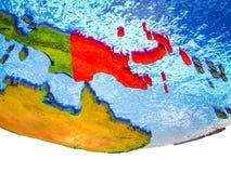 Παπούα Νέα Γουϊνέα στην τρισδιάστατη γη απεικόνιση αποθεμάτων