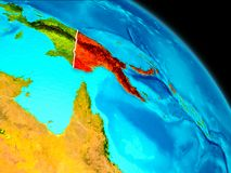 Παπούα Νέα Γουϊνέα στη γη Στοκ Εικόνα