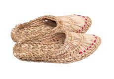 παπούτσια ίνας ραφίας Στοκ φωτογραφία με δικαίωμα ελεύθερης χρήσης