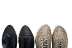 Παπούτσια αθλητικού δέρματος στοκ φωτογραφίες