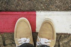 Παπούτσια ατόμων δέρματος Στοκ φωτογραφία με δικαίωμα ελεύθερης χρήσης