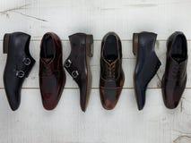 παπούτσια ατόμων s δέρματος Στοκ Εικόνες