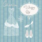 Παπούτσια γαμήλιων φορεμάτων καθορισμένα ελεύθερη απεικόνιση δικαιώματος