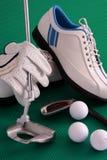 παπούτσια γκολφ golve Στοκ Εικόνα