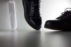 Παπούτσια γυναικών για την καθημερινή ντουλάπα στοκ εικόνα