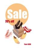Παπούτσια γυναικών μόδας στην πώληση Στοκ Εικόνες