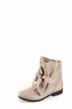 Παπούτσια γυναικών σάρκα-που χρωματίζονται Στοκ Εικόνες