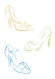Παπούτσια γυναικών Στοκ εικόνες με δικαίωμα ελεύθερης χρήσης