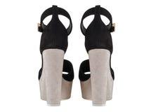 Παπούτσια γυναικών ` s σε ένα άσπρο υπόβαθρο υποδήματα ασφαλίστρου Ιταλικά μαρκαρισμένα παπούτσια Στοκ εικόνα με δικαίωμα ελεύθερης χρήσης