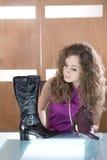 παπούτσια εικόνων κοριτσιών withl Στοκ Εικόνες