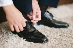 Παπούτσια επιδέσμου νεόνυμφων Στοκ Εικόνα