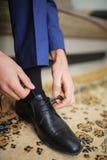 Παπούτσια επιδέσμου νεόνυμφων Στοκ εικόνες με δικαίωμα ελεύθερης χρήσης
