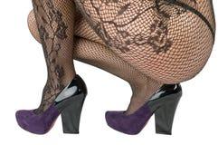 Παπούτσια και γυναικείες κάλτσες, pantyhose. στοκ εικόνα με δικαίωμα ελεύθερης χρήσης