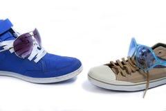 Παπούτσια και eyewear Στοκ εικόνες με δικαίωμα ελεύθερης χρήσης