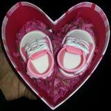 Παπούτσια καραμελών μωρών στοκ φωτογραφία