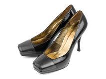 Παπούτσια μαύρων γυναικών Στοκ εικόνα με δικαίωμα ελεύθερης χρήσης